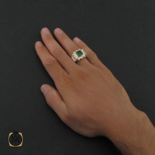 انگشتر زمرد زامبیا فاخر و ارزشمند - کد 8623 - 6 18 510x510