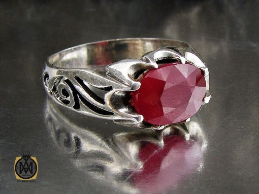 انگشتر یاقوت سرخ خوش رنگ مردانه - کد 8906