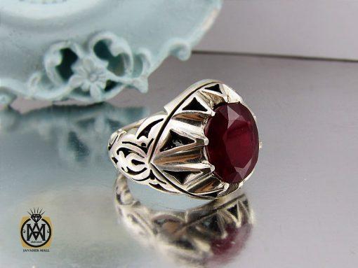 انگشتر یاقوت سرخ مردانه خوش رنگ دست ساز - کد 8951 - 00 186 510x383