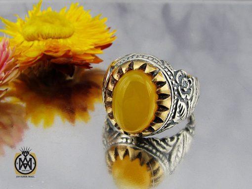 انگشتر عقیق زرد با حکاکی شرف الشمس مردانه – کد 8824 - 00 25 510x383