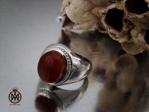 انگشتر عقیق یمن مردانه رکاب دست ساز - کد 10024