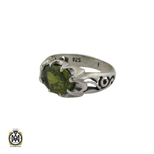 انگشتر زبرجد خوش رنگ طرح صفوی مردانه – کد ۸۹۱۳