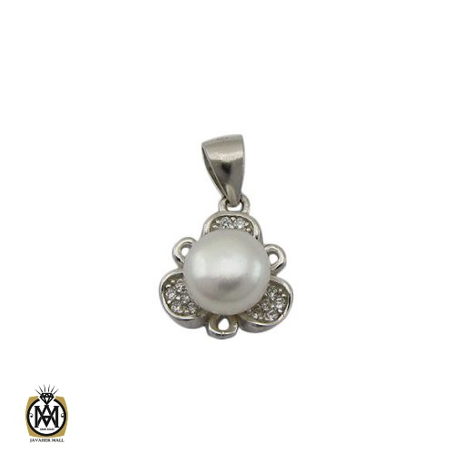 مدال مروارید اصل پرورشی طرح ترگل زنانه – کد ۳۱۶۸
