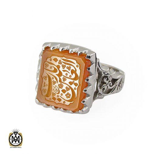انگشتر عقیق یمن با حکاکی یا رب العالمین دست ساز مردانه - کد 8930 - 1 148 510x510