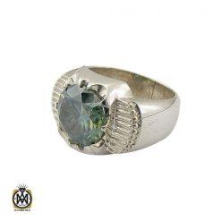انگشتر موزانایت سبز مردانه درشت و فاخر – کد 8813 - 1 16 247x247