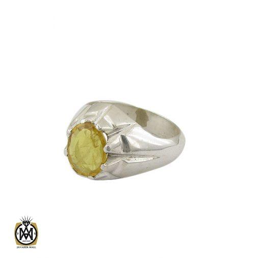 انگشتر یاقوت زرد مردانه دست ساز - کد 8943 - 1 182 510x510