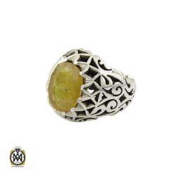 انگشتر یاقوت زرد مردانه دست ساز فاخر - کد 8945 - 1 184 247x247