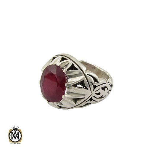 انگشتر یاقوت سرخ مردانه خوش رنگ دست ساز - کد 8951 - 1 190 510x510