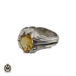 انگشتر سیترین درشت مردانه دست ساز - کد 10276 - 1 20 247x247