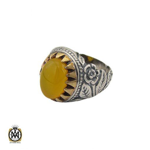 انگشتر عقیق زرد با حکاکی شرف الشمس مردانه – کد 8824 - 1 27 510x510