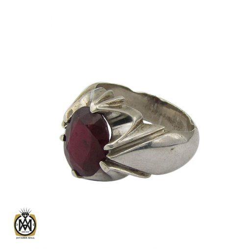 انگشتر یاقوت سرخ خوش رنگ مردانه - کد 10046 - 1 293 510x510