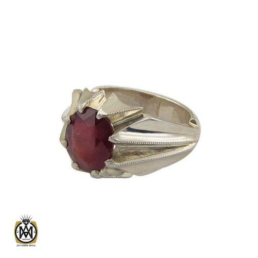 انگشتر یاقوت سرخ خوش رنگ مردانه هنر دست استاد باقرزاده - کد 10047 - 1 294 510x510