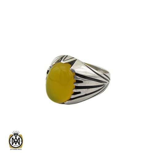 انگشتر عقیق زرد با حکاکی شرف الشمس مردانه – کد 8831 - 1 34 510x510