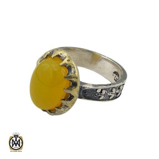 انگشتر عقیق زرد با حکاکی شرف الشمس مردانه – کد 8833 - 1 36 510x510