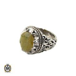 انگشتر یاقوت زرد مرغوب مردانه دست ساز - کد 8881 - 1 84 247x247