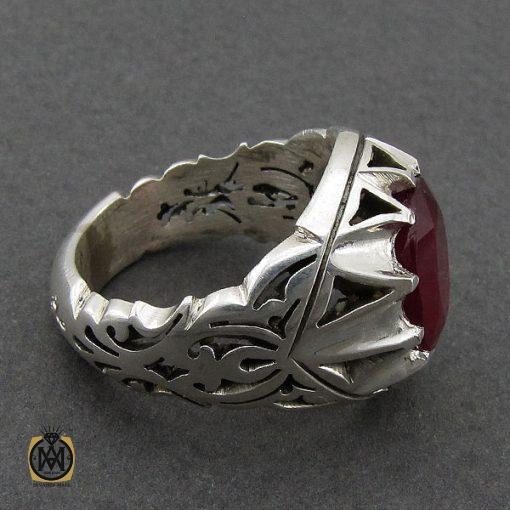انگشتر یاقوت سرخ مردانه خوش رنگ دست ساز - کد 8951 - 2 190 510x510