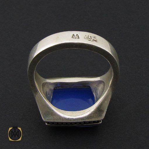 انگشتر عقیق آبی مردانه با حکاکی یا امیرالمومنین هنر دست استاد شرفیان– کد 8821 - 2 23 510x510