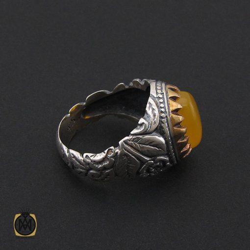 انگشتر عقیق زرد با حکاکی شرف الشمس مردانه – کد 8824 - 2 26 510x510