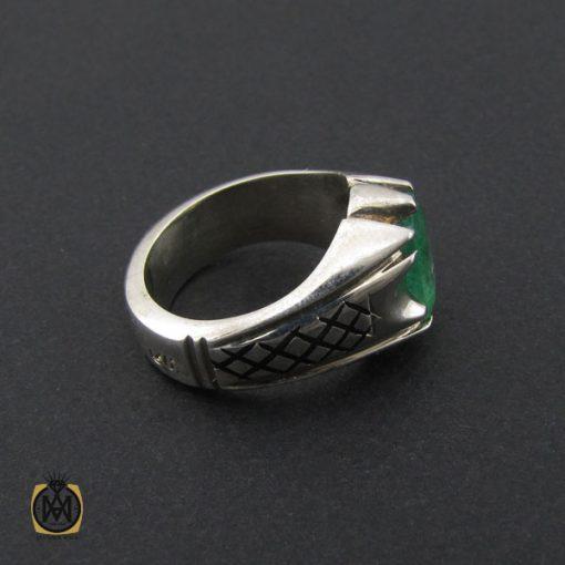 انگشتر زمرد زامبیا مردانه مرغوب و خوش رنگ - کد 10030 - 2 278 510x510