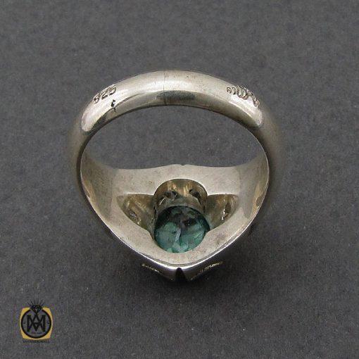 انگشتر توپاز سبز مردانه هنر دست استاد باقرزاده - کد 10042 - 2 290 510x510