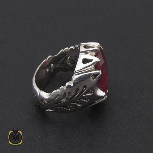 انگشتر یاقوت سرخ مردانه دست ساز – کد ۸۸۰۰