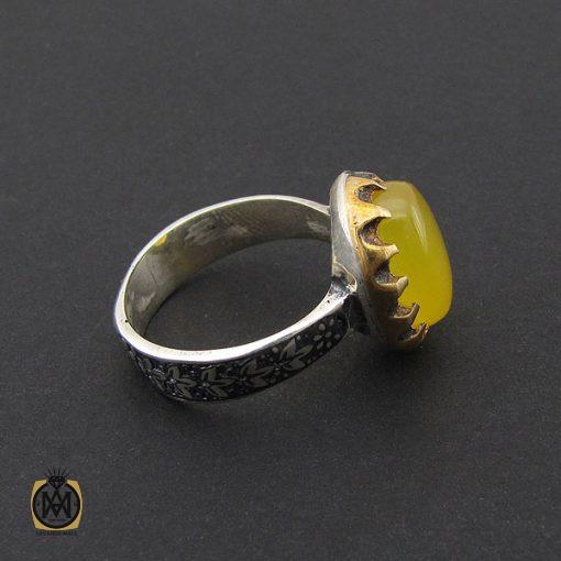 انگشتر عقیق زرد با حکاکی شرف الشمس مردانه – کد 8830 - 2 32 510x510