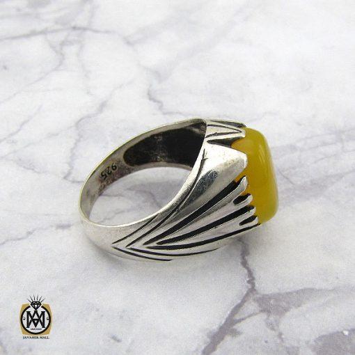 انگشتر عقیق زرد با حکاکی شرف الشمس مردانه – کد 8831 - 2 33 510x510