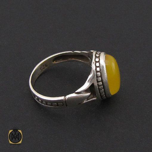 انگشتر عقیق زرد با حکاکی شرف الشمس مردانه – کد ۸۸۳۵