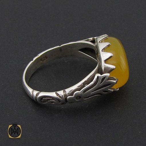 انگشتر عقیق زرد با حکاکی شرف الشمس مردانه – کد ۸۸۳۸