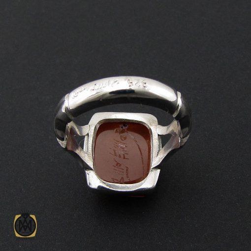 انگشتر عقیق یمن با حکاکی شرف الشمس دست ساز مردانه - کد 8927 - 3 146 510x510