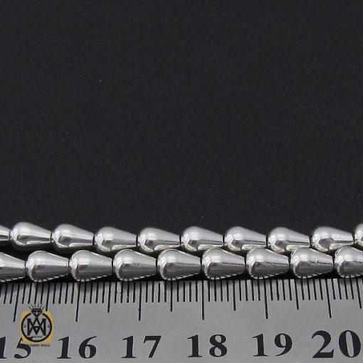 تسبیح نقره ۳۳ دانه مخروطی ساده – کد ۴۱۴۳