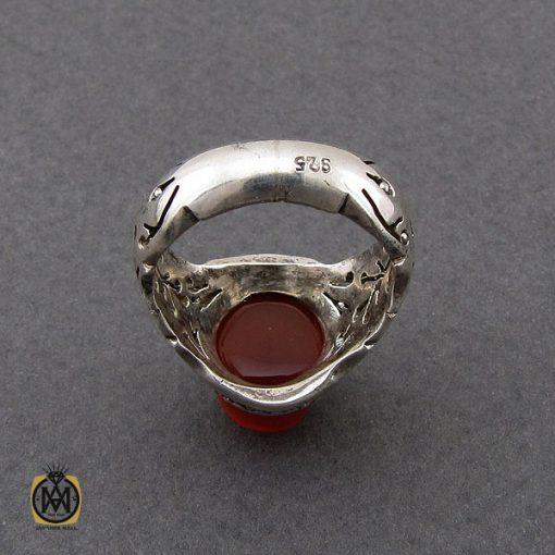 انگشتر عقیق یمن برجسته مردانه رکاب دست ساز - کد 8998 - 3 262 510x510