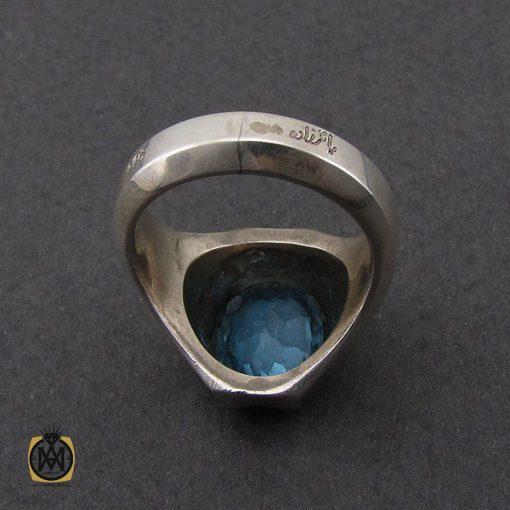 انگشتر توپاز آبی خوش رنگ مردانه - کد 10034 - 3 283 510x510
