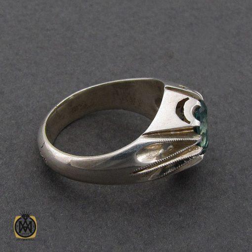 انگشتر توپاز سبز مردانه هنر دست استاد باقرزاده - کد 10042 - 3 291 510x510
