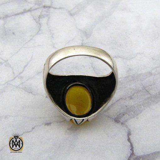انگشتر عقیق زرد با حکاکی شرف الشمس مردانه – کد 8831 - 3 33 510x510