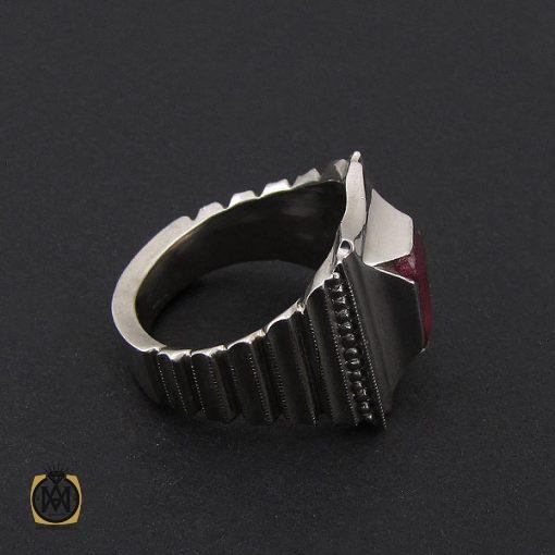 انگشتر یاقوت سرخ فاخر مردانه هنر دست استاد شرفیان – کد 8803 - 3 5 510x510