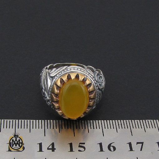 انگشتر عقیق زرد با حکاکی شرف الشمس مردانه – کد 8824 - 4 26 510x510