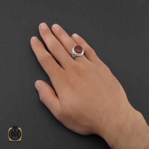 انگشتر عقیق یمن مردانه رکاب دست ساز - کد 10021 - 4 268 510x510