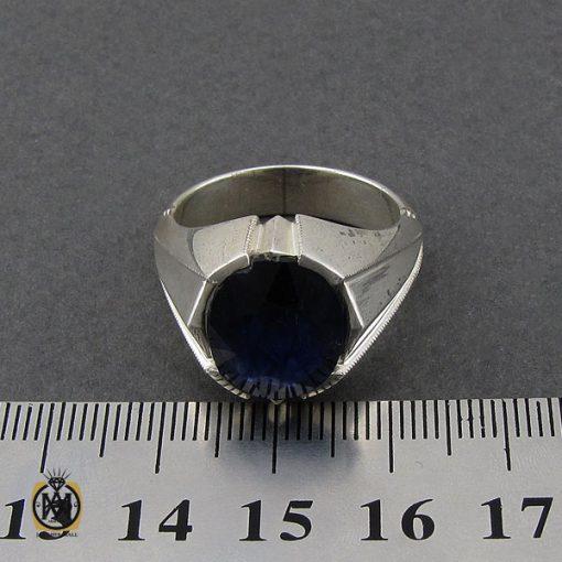انگشتر یاقوت کبود خوش رنگ مردانه دست ساز - کد 10045 - 4 293 510x510