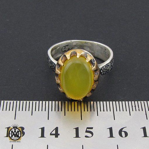انگشتر عقیق زرد با حکاکی شرف الشمس مردانه – کد 8830 - 4 32 510x510