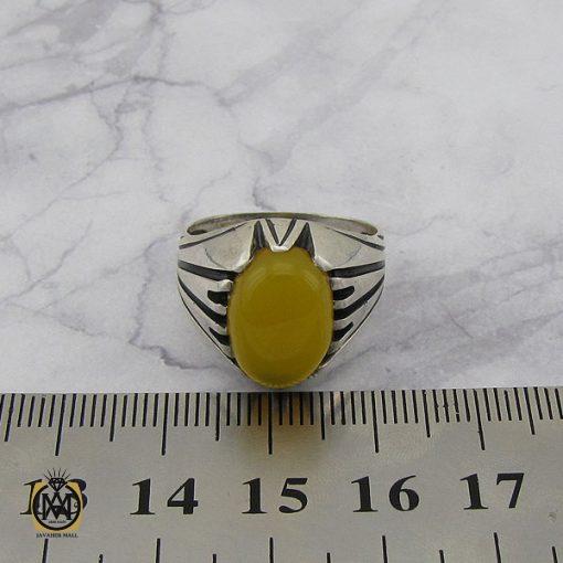 انگشتر عقیق زرد با حکاکی شرف الشمس مردانه – کد 8831 - 4 33 510x510