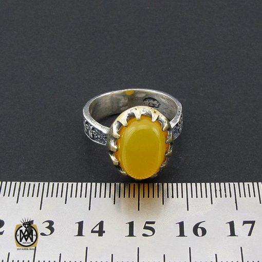 انگشتر عقیق زرد با حکاکی شرف الشمس مردانه – کد 8833 - 4 35 510x510