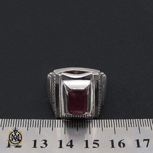 انگشتر یاقوت سرخ فاخر مردانه هنر دست استاد شرفیان – کد 8803 - 4 5 510x510