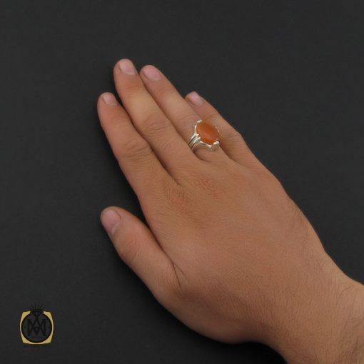 انگشتر عقیق یمن با حکاکی شرف الشمس مردانه - کد 8898 - 5 100 510x510