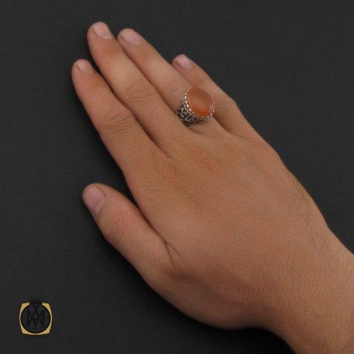 انگشتر عقیق یمن با حکاکی شرف الشمس مردانه - کد 8899 - 5 101 510x510