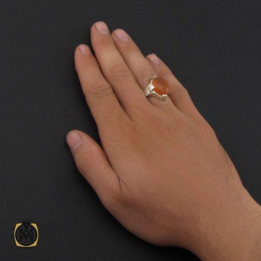 انگشتر عقیق یمن با حکاکی شرف الشمس مردانه - کد 8903 - 5 105 510x510