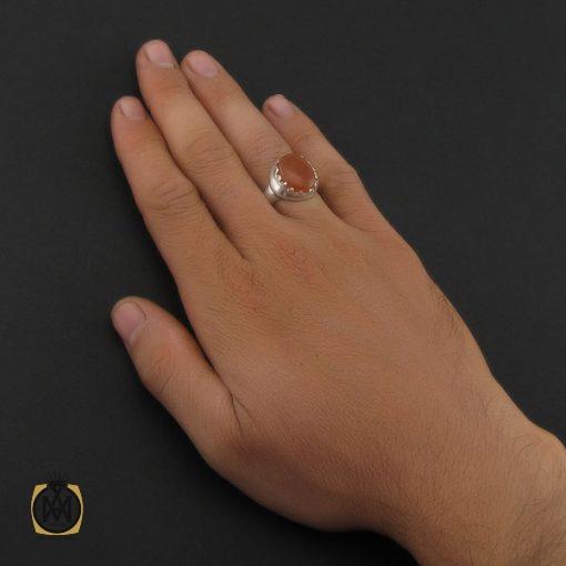 انگشتر عقیق یمن با حکاکی شرف الشمس مردانه - کد 8905 - 5 107 510x510