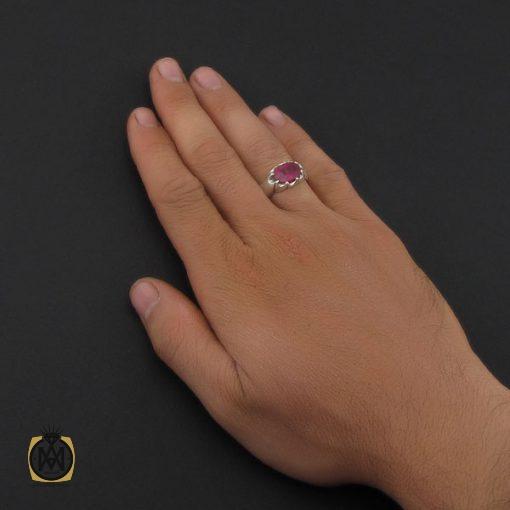 انگشتر یاقوت سرخ خوش رنگ مردانه - کد 8907 - 5 109 510x510