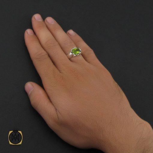 انگشتر زبرجد خوش رنگ مردانه – کد ۸۹۱۴