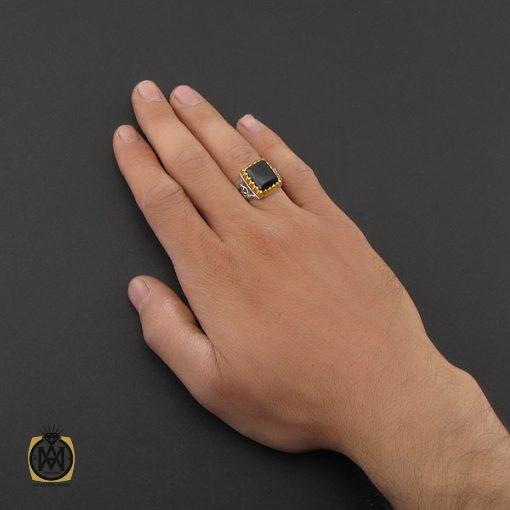 انگشتر عقیق سیاه یمن دست ساز مردانه - کد 8922 - 5 126 510x510